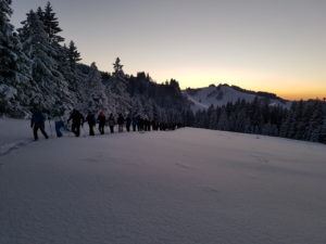 Vom Sonnenuntergang in die Vollmondnacht - Schneeschuhwanderung @ Hochhädrich - Falkenhütte