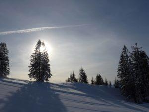 Schneeschuhwanderung Vom Sonnenuntergang in die Vollmondnacht @ Je nach Schnee- und Wetterlage. Großraum Bregenzerwald
